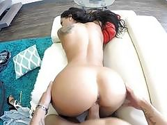 Busty babe with big tits enjoys hardcore smashing in POV