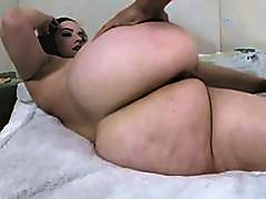 Lily Sincere butt wiggles while banged