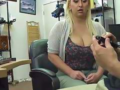 Voluptuous ass Nina Kay twerks and gets fucked from behind in the shop
